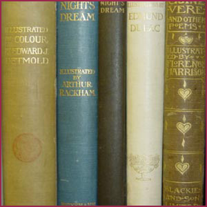 Image of various book bindings